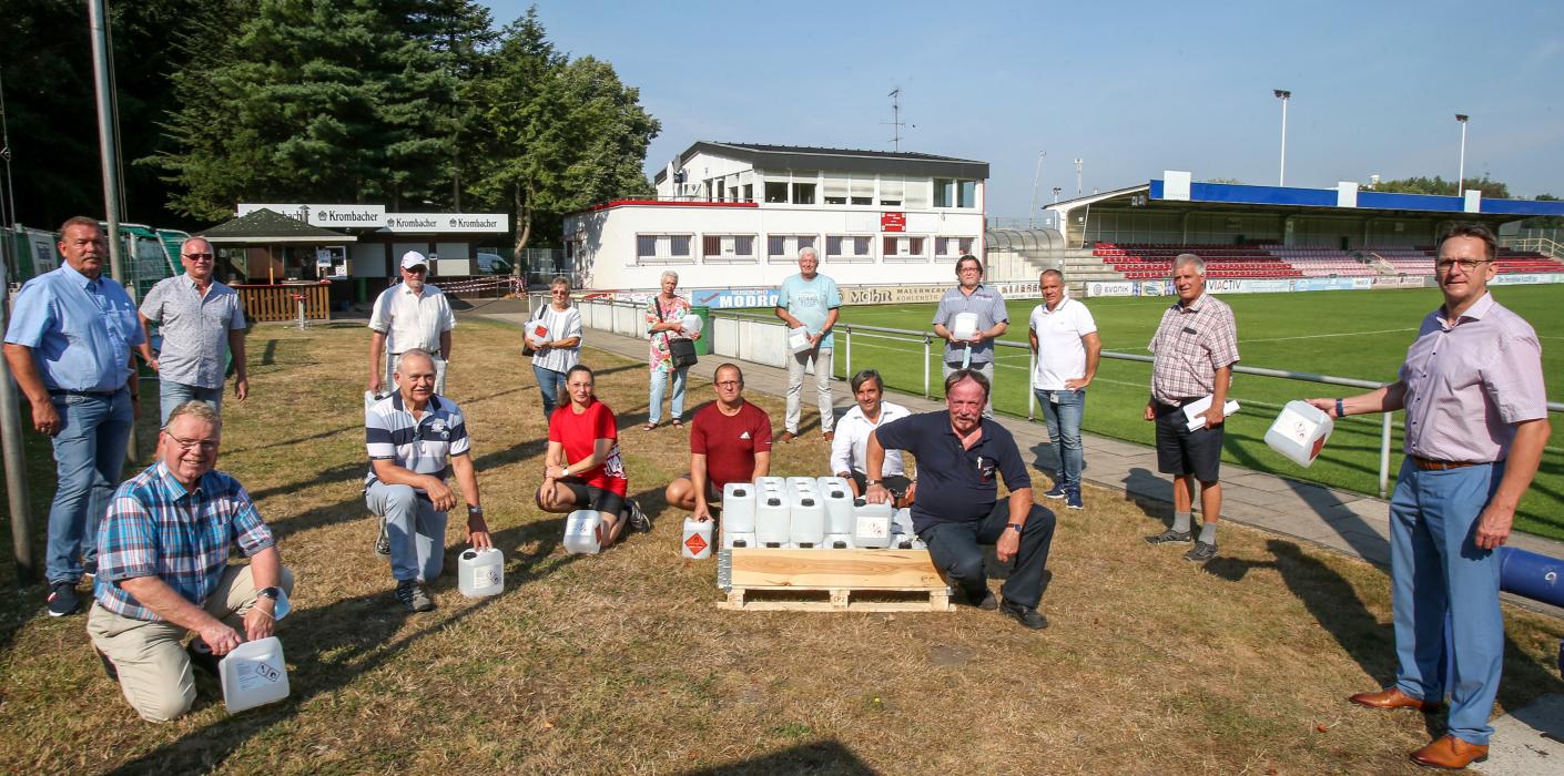 Evonik unterstützt die werkverbundenen Vereine im Kampf gegen Corona