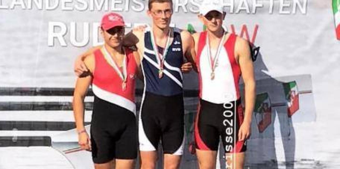 Julian Risse rudert zu NRW-Bronze