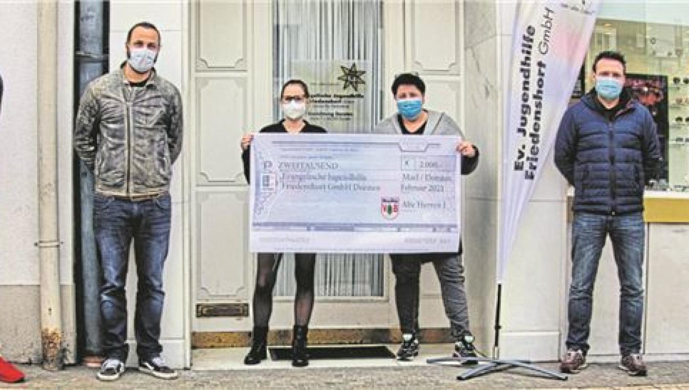 2.000 Euro für den Friedenshort