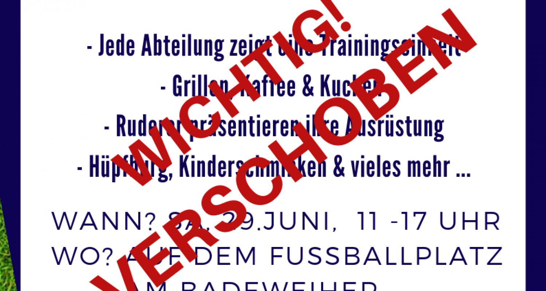 Tag der offenen Tür beim VfB wird verschoben